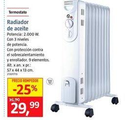 Oferta de Radiador de aceite por 23,99€