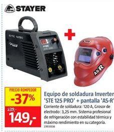 Oferta de Equipo de soldadura Stayer por 149€