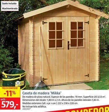 Oferta de Caseta de madera por 577€