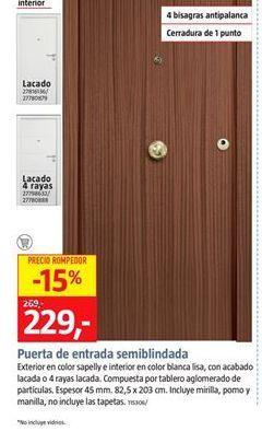 Oferta de Puerta de entrada por 227€
