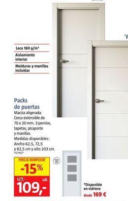 Oferta de Pack ce puertas  por 107€