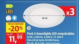 Oferta de Downlight led por 11,99€