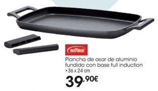 Oferta de Plancha de asar de aluminio fundido con base full induction por 39,9€