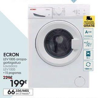 Oferta de Ecron Lavadora LEV1005 por 199€