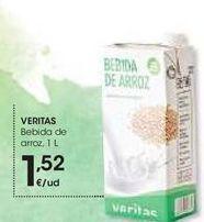 Oferta de Bebida de arroz Veritas por 1,52€