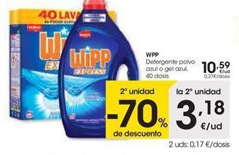 Oferta de Detergente en polvo WiPP Express por 10,59€