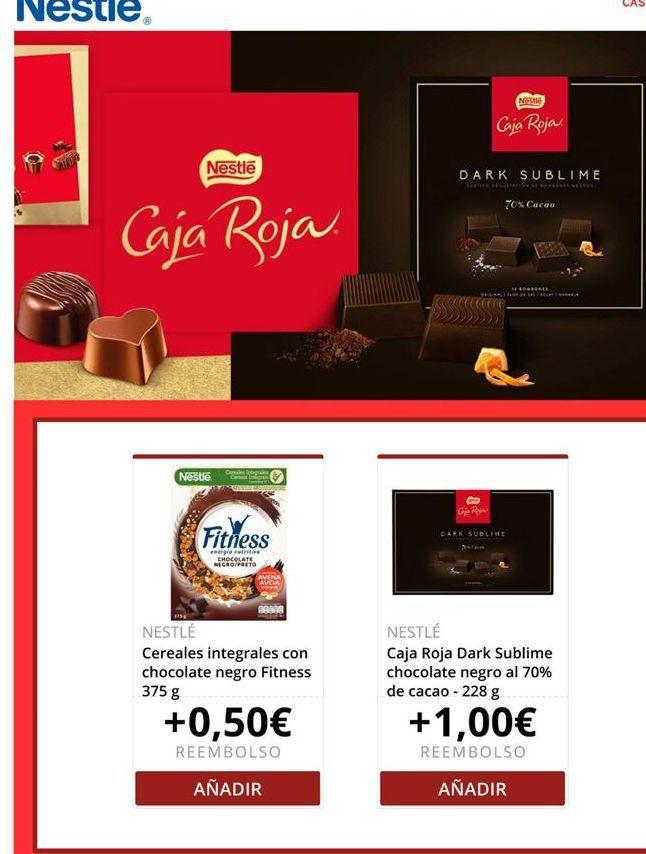 Oferta de Bombones Nestlé por