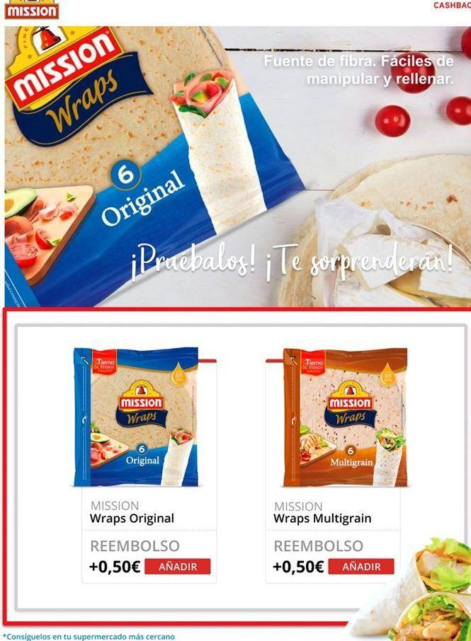 Oferta de Tortilla Mission por
