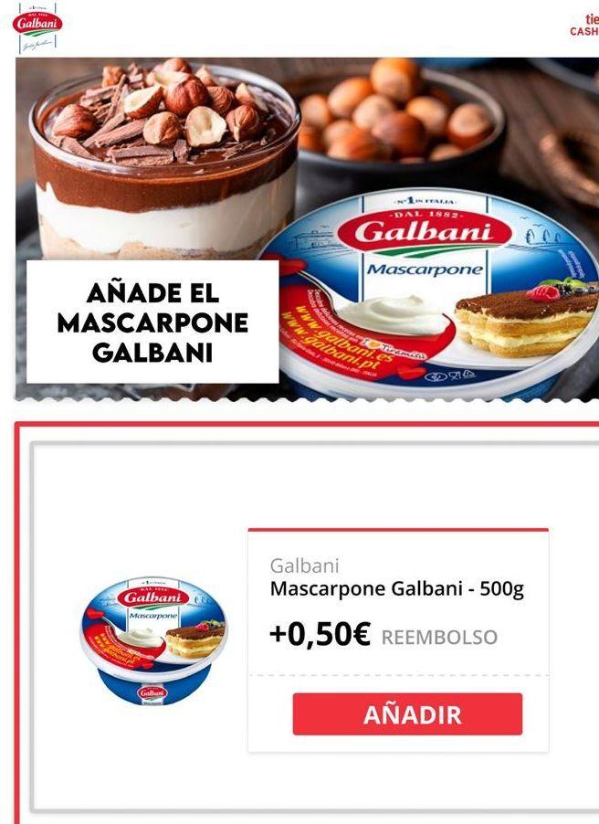 Oferta de Mascarpone galbani por