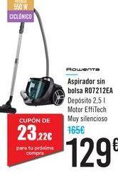 Oferta de Aspirador sin bolsa R07212EA Rowenta  por 129€