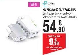 Oferta de Kit PLC AV600 TL-WPA4221PL por 54,9€
