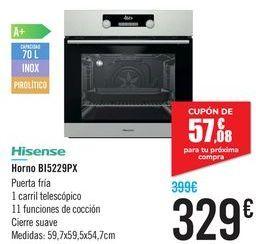 Oferta de Horno B15229PX Hisense  por 329€