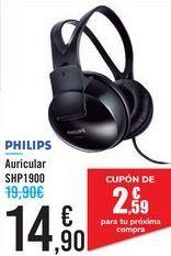 Oferta de AURICULAR SHP1900 PHILIPS por 14,9€