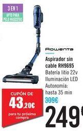 Oferta de Aspirador sin cable RH9695 Rowenta  por 249€