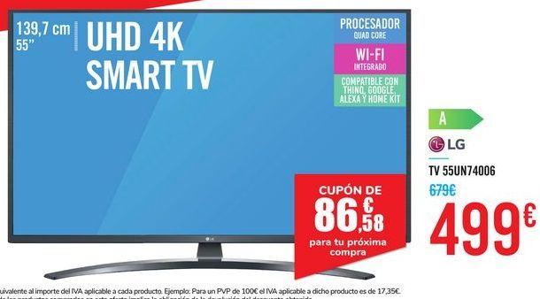 Oferta de TV 55UN74006 LG por 499€