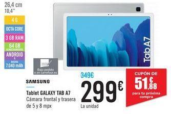 Oferta de Tablet  GALAXY TAB A7 SAMSUNG  por 299€