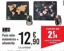 Oferta de Pack ratón inalámbrico + alfombrilla  por 12,9€