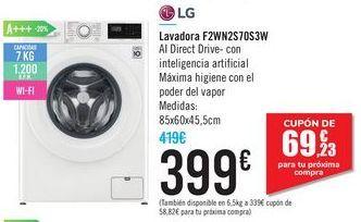 Oferta de Lavadora F2WN2S70S3W LG por 399€