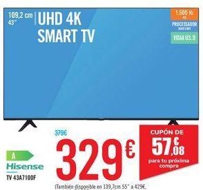 Oferta de TV 43A710DF HISENSE por 329€
