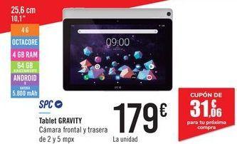 Oferta de Tablet GRAVITY SPC por 179€
