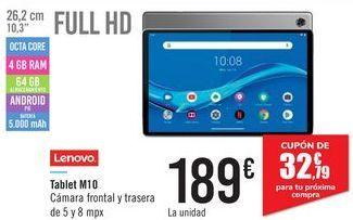 Oferta de Tablet M10 Lenovo  por 189€