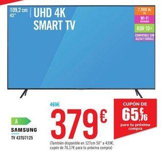 Oferta de TV 43TU7125 SAMSUNG por 379€