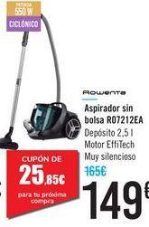 Oferta de Aspirador sin bolsa R07212EA Rowenta  por 149€
