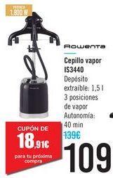 Oferta de Cepillo vapor IS3440 Rowenta  por 109€