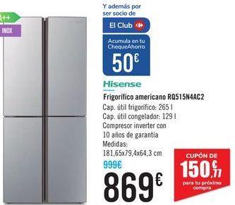 Oferta de Frigorifíco americano RQ15N4AC2 Hisense  por 869€