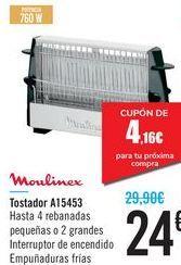 Oferta de Tostadora Moulinex A15453 por 24€