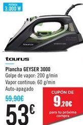 Oferta de Plancha GEYSER 3000 Taurus  por 53€