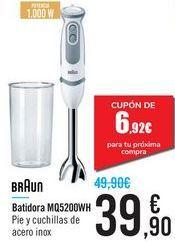 Oferta de Batidora MQ5200WH Braun  por 39,9€