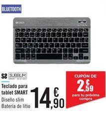 Oferta de Teclado para tablet SMART S2 SUBBLM por 14,9€