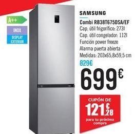 Oferta de Combi RB38T675DSA/EF SAMSUNG por 699€