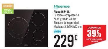 Oferta de Placa I6341C Hisense  por 229€