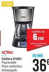 Oferta de Cafetera CF4031 Solac  por 36€