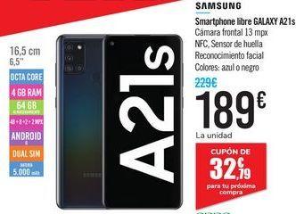 Oferta de Smartphone libre GALAXY A21s SAMSUNG por 189€