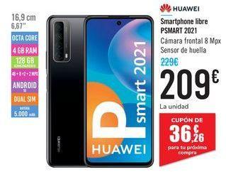 Oferta de Smartphone libre PSMART 2021 HUAWEI por 209€