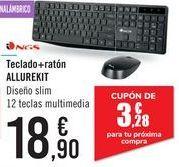 Oferta de Teclado + ratón ALLUREKIT NGS  por 18,9€