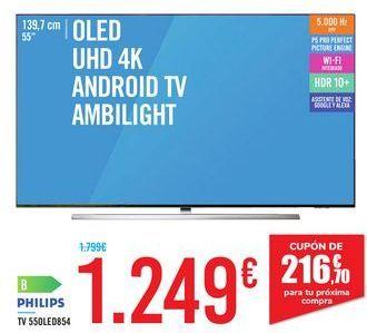 Oferta de TV 55OLED854 PHILIPS por 1249€