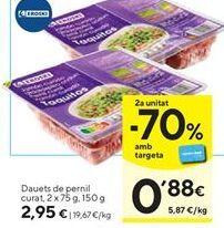 Oferta de Tacos de jamón eroski por 2,95€