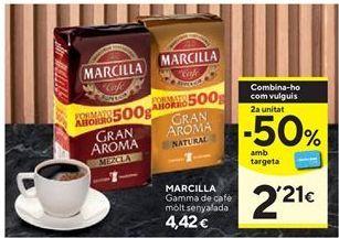 Oferta de Café molido Marcilla por 4,42€