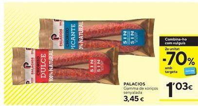 Oferta de Chorizo Serrano por 3,45€