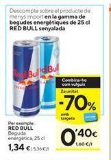 Oferta de Bebida energética Red Bull por 1,34€