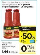 Oferta de Tomate frito Solís por 1,44€