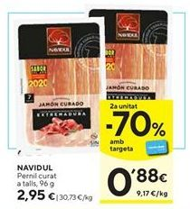 Oferta de Jamón curado Navidul por 2,95€