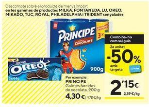 Oferta de Galletas rellenas de chocolate Príncipe por 4,3€