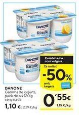 Oferta de Yogur Danone por 1,1€