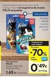 Oferta de Snacks para mascotas Felix por 1,65€