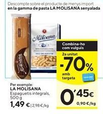 Oferta de Espaguetis la molisana por 1,49€